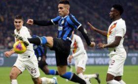 «Интер» и«Рома» завершили матч чемпионата Италии беззабитых мячей