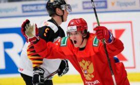 Молодежная сборная России похоккею разгромила немцев