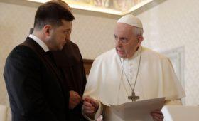 Зеленский заявил об обращении от папы римского фразой «президент мира»